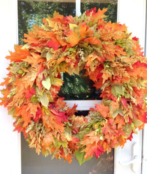 fall wreath decoration